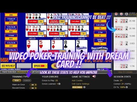 Video poker best training available to become a better player !!!